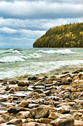 Christopher Arndt Framed Prints - Door County Porcupine Bay Waves Framed Print by Christopher Arndt