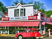 Christopher Arndt Metal Prints - Door County Wilsons Restaurant and Ice Cream Parlor Metal Print by Christopher Arndt