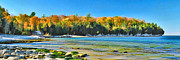 Christopher Arndt Framed Prints - Door County Wisconsin Bay Panorama Framed Print by Christopher Arndt