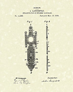 Fancy Drawings - Door Decal 1884 Patent Art by Prior Art Design
