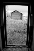 White Frame House Prints - Door Frame B/W Print by Fredrik Ryden