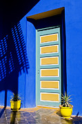 Majorelle Garden Prints - Door in a Blue Wall Print by Mick House
