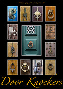 Traditional Doors Photo Framed Prints - Door Knockers 1 Framed Print by Heiko Koehrer-Wagner