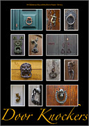 Traditional Doors Metal Prints - Door Knockers 4 Metal Print by Heiko Koehrer-Wagner