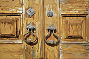 Forged Framed Prints - Door Knockers of Portugal Framed Print by David Letts