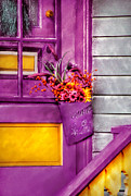Yellow Flowers Posters - Door - Lavender Poster by Mike Savad