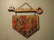 Plaque Mixed Media Prints - Door Name Plaque Print by Val Oconnor