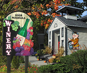 Fall Scene Photos - Door Peninsula Winery by Doug Kreuger