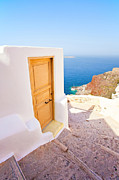 White Walls Metal Prints - Door suddenly Metal Print by Aiolos Greek Collections