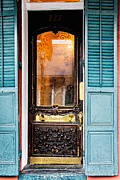Christopher Holmes Framed Prints - Door to Hotel Maison de Ville  Framed Print by Christopher Holmes