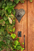 Rustic Door Posters - Door to my Heart Poster by Georgia Fowler