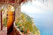 Italy Prints - Door to Paradise Print by Susan  Schmitz