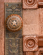 Door Knob Posters - Door to Texas State Capital Poster by David and Carol Kelly
