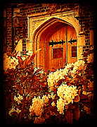Entryway Prints - Door to the Castle Print by Miriam Danar