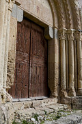 True Cross Metal Prints - Door to the Templar Church Metal Print by Lorraine Devon Wilke