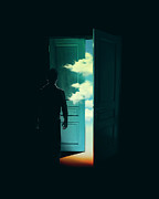 Surreal Digital Art - Door To the World by Budi Satria Kwan