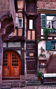 Riquewihr Framed Prints - Doors and Windows Framed Print by David Davies