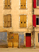 France Doors Prints - Doors and Windows in Southern France Print by Rene Sheret