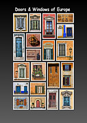 Sienna Italy Metal Prints - Doors and Windows of Europe Metal Print by David Letts