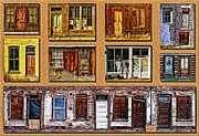 Decaying Digital Art Prints - Doors and Windows Print by Priscilla Burgers