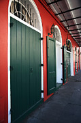French Quarter Doors Framed Prints - Doors in the Quarter Framed Print by John Rizzuto
