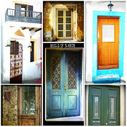 Therese Alcorn - Doors of Greece Collage