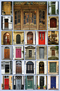 Doors Of London Print by Heidi Hermes