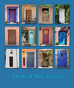 Adobe Architecture Posters - Doors of New Mexico Poster by Heidi Hermes