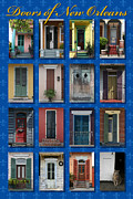 Cajun Prints - Doors of New Orleans Print by Heidi Hermes