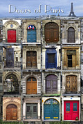 French Door Prints - Doors of Paris Print by Heidi Hermes