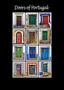 Old World Europe Posters - Doors of Portugal Poster by David Letts