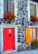 Doors Of Quebec 2 Print by Mel Steinhauer