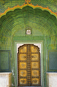 Jaipur Photos - Doorway at the Jaipur City Palace by Robert Preston