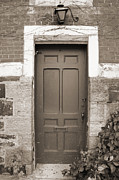Brick Photos - Doorway in Sepia by Brooke Ryan