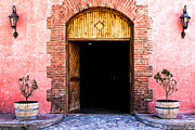 Malbec Prints - Doorway to a Winery Print by Jaime Taylor