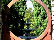 Kitchen Photos Prints - Doorway to Fountain 2 Print by Will Boutin Photos