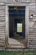 Egg Tempera Framed Prints - Doorway to the Past Framed Print by Peter Muzyka