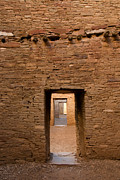 Doorways In Pueblo Bonito Print by Vivian Christopher