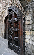 Calistoga Framed Prints - Doorways Of Castello di Amorosa Framed Print by Gina Savage