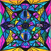 Vibrational Frequency Framed Prints - Dopamine Framed Print by Teal Eye  Print Store
