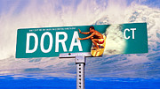 Street Sign Digital Art Posters - Dora Court Poster by Ron Regalado