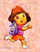 Dora The Explorer Print by George Rossidis