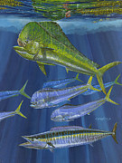Blue Marlin Paintings - Dorado Rip Off0057 by Carey Chen