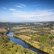 Aquitaine Metal Prints - Dordogne River Aquitaine France Metal Print by Colin and Linda McKie
