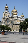 Onion Domes Photos - Dormition of the Mother of God Cathedral by Christiane Schulze