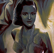 Famous Faces Painting Originals - Dorothy Dandridge by Chelle Brantley