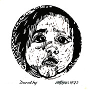 Lino Cut Drawings - Dorothy by Seth Weaver