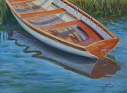 Dory Paintings - Dory at Shore by Julie Brayton