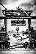 Western Usa Posters - Dory Fishing Fleet Market Black and White Picture Poster by Paul Velgos