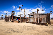 Wooden Building Prints - Dory Fishing Fleet Market in Newport Beach California Print by Paul Velgos